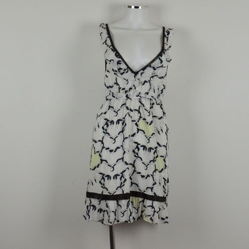 Milk & Honey swan print mini dress
