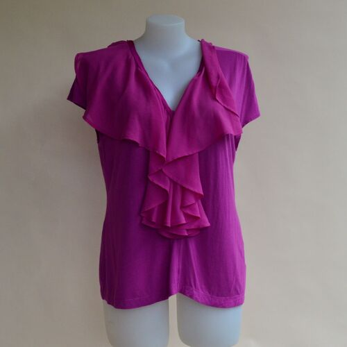 M Line top with frill and front zip